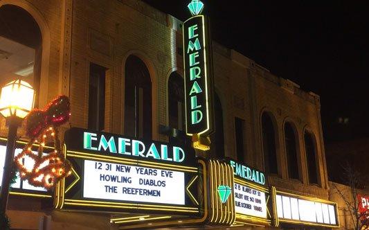 Emerald Theatre Blade sign  neon lighting