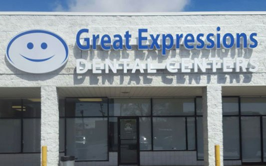 Great Expressions Dental Center in Warren Channel Letters on Raceway and Logo Box