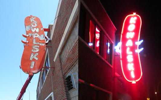 Kowalski  Sign Restoration Before and After picture