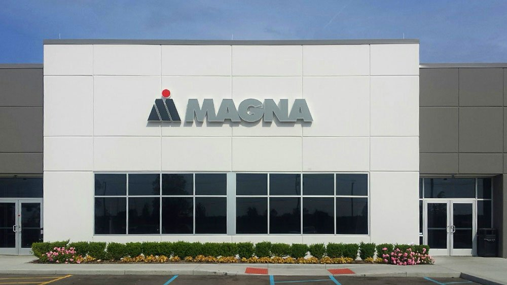 Magna Building Exterior Channel Letters and logo