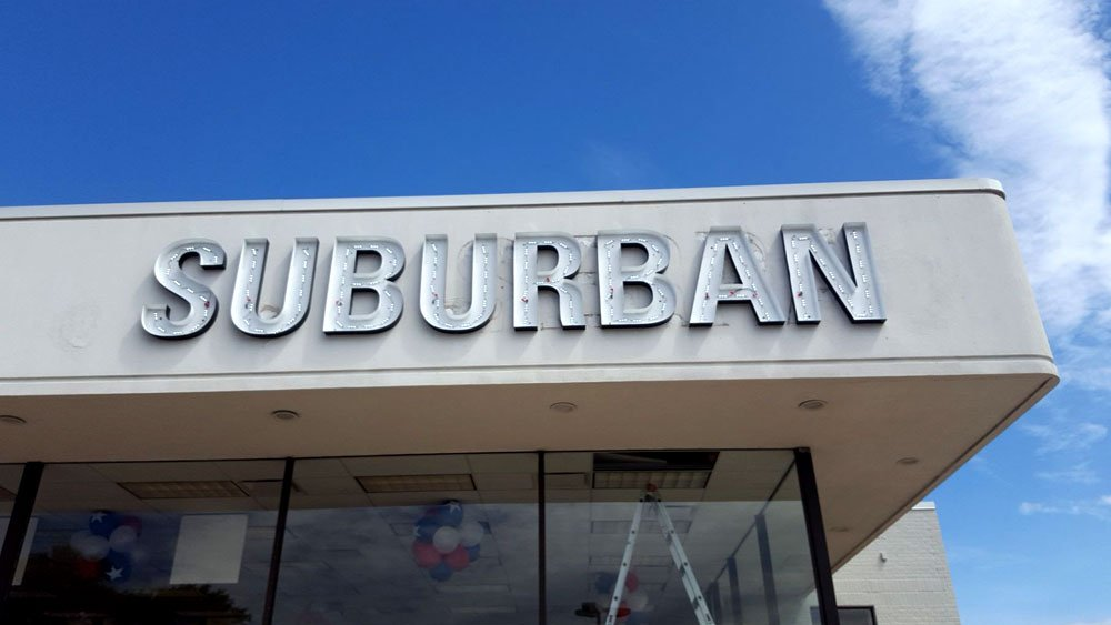Suburban LED Retrofit open faced Channel Letters
