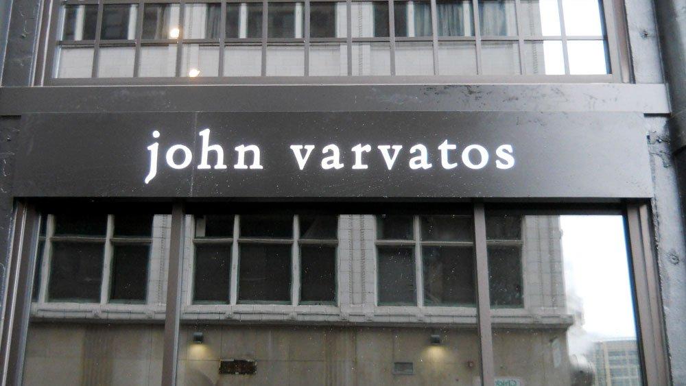 John Varvatos Push Thru Sign