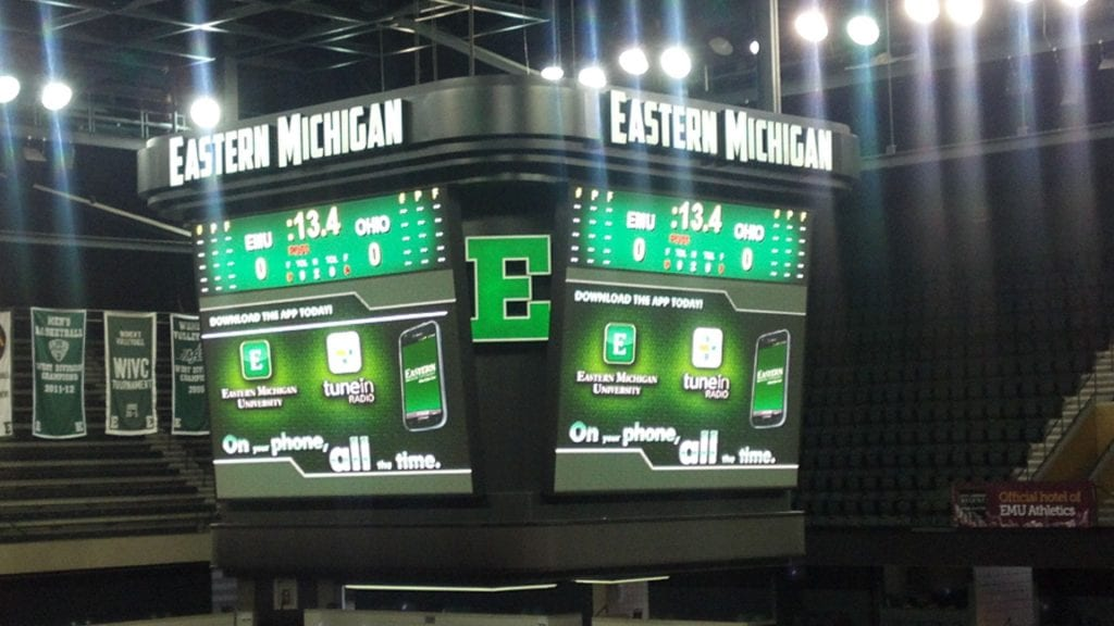 Eastern Michigan Arena LED EMC Digital Display Screens