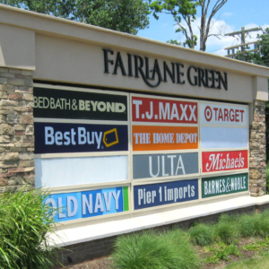Plaza Signage and Panel Replacements tenant shopping mall signs panels multi- , multi-tenant