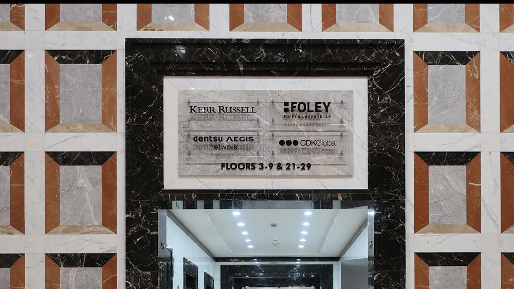 Building Interior Directional Floor Lobby Sign