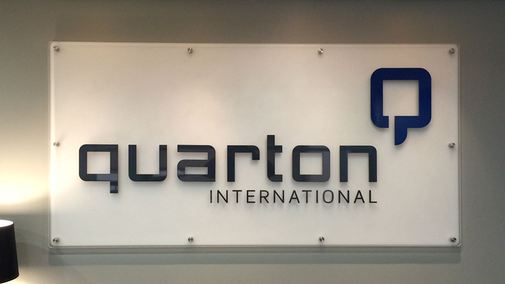 Quarton International Interior Sign on Stand offs