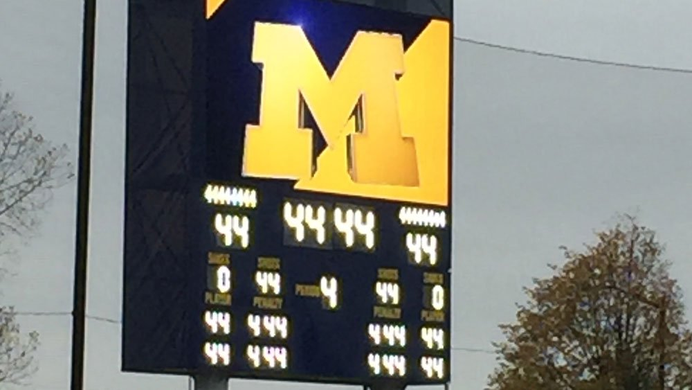 University of Michigan EMC Digital Scoreboard Display Sign