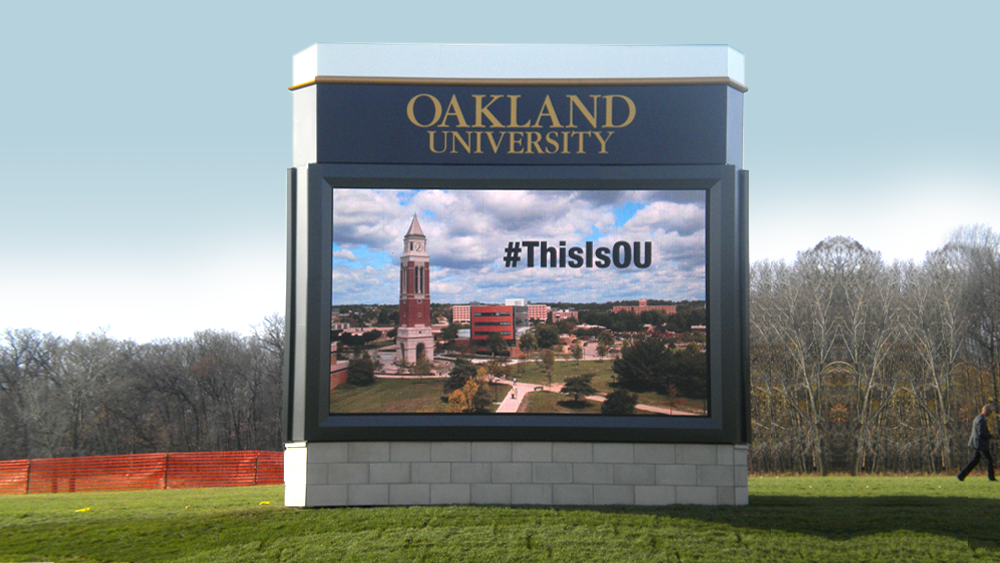Oakland University Sign