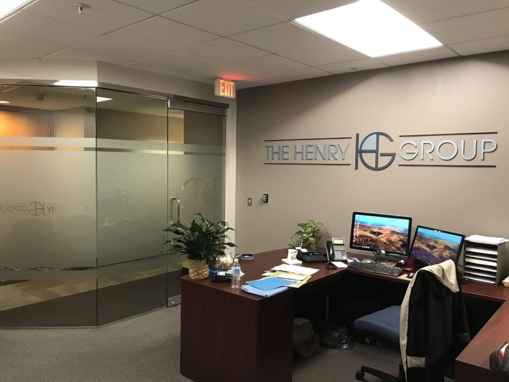 The Henry Group Interior Office Signage