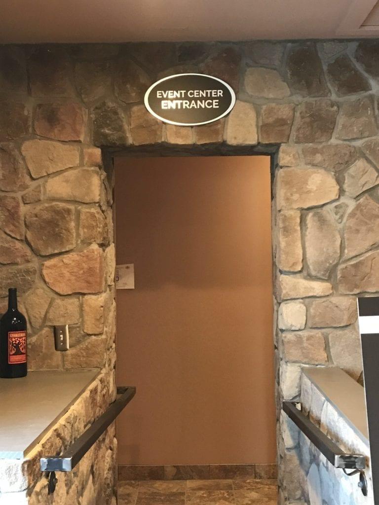 Wine Shoppe Interior Signage Event Center Entrance Directional Identifying Sign