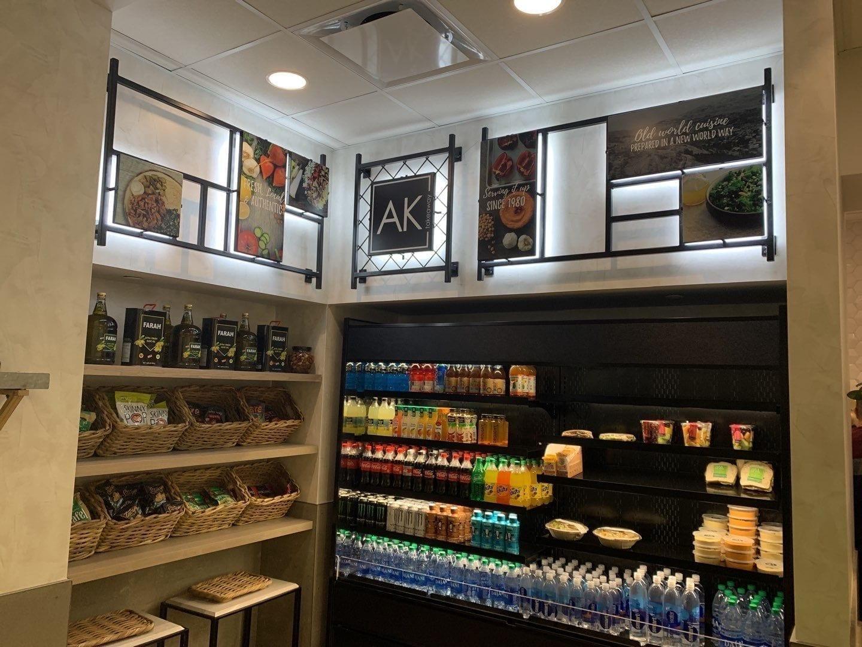 Interior prints for Anita's Kitchen shop - backlit lighting