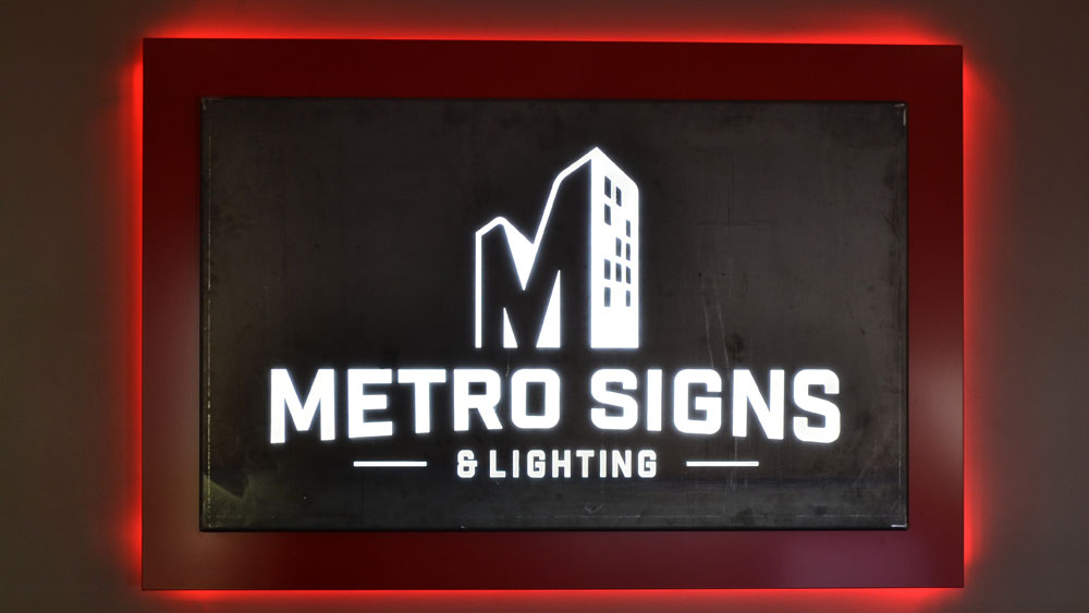 Metro Signs and Lighting Frontdesk lobby dimensional Illuminating Sign