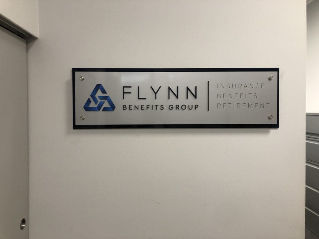 Flynn Benefits Group Interior Wall Sign
