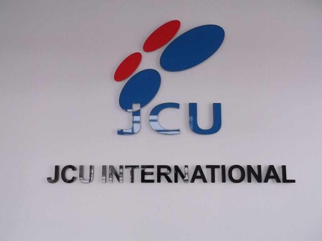 JCU International Logo Wall Acrylic Dimensional Sign
