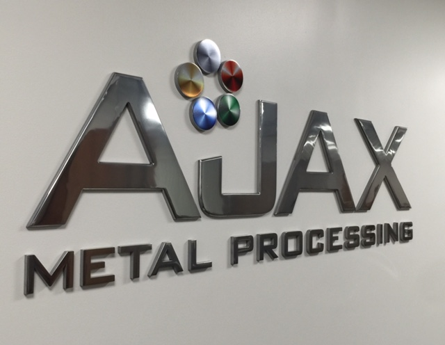 AJAX Metal Processing Dimensional Custom logo sign