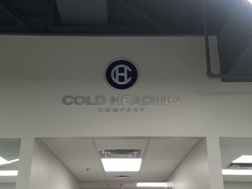 Cold Head Company Aluminum Metal Logo and Letters Interior Sign