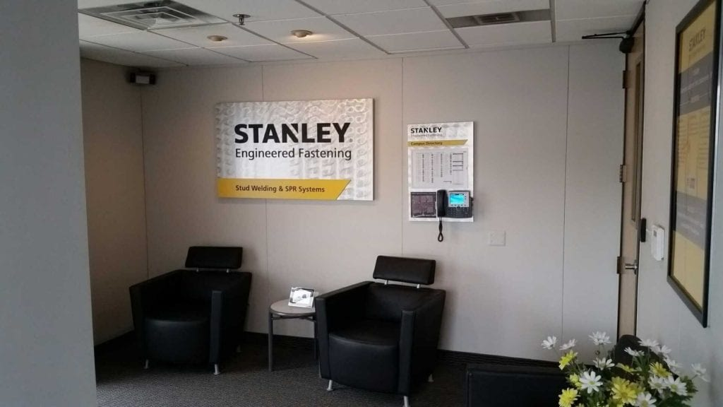 Stanley Office Signage Directory and Wall Sign