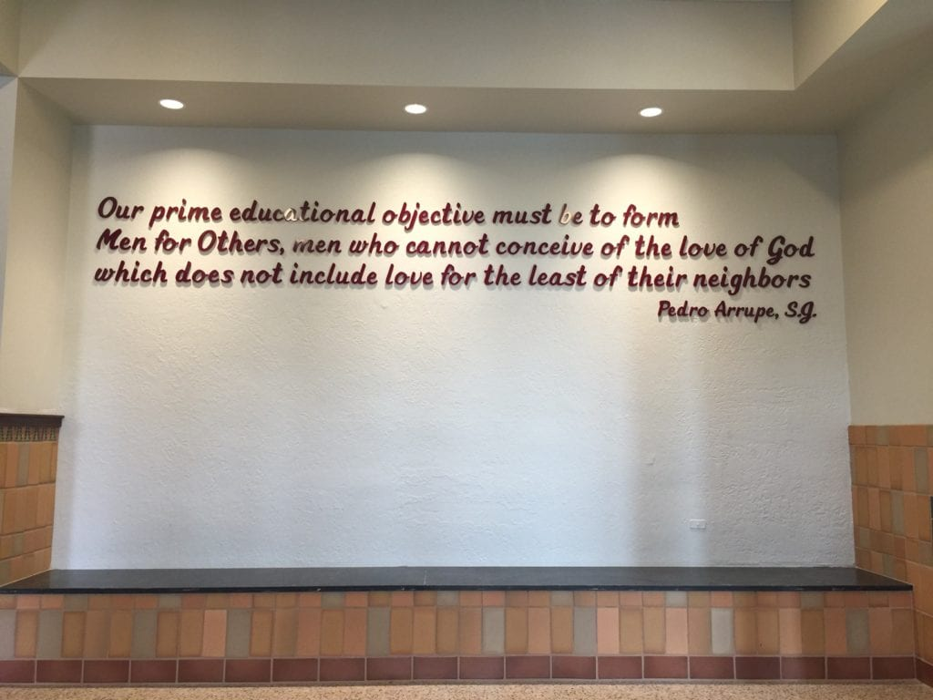 Interior Dimensional Bible verse text for church lobby walls