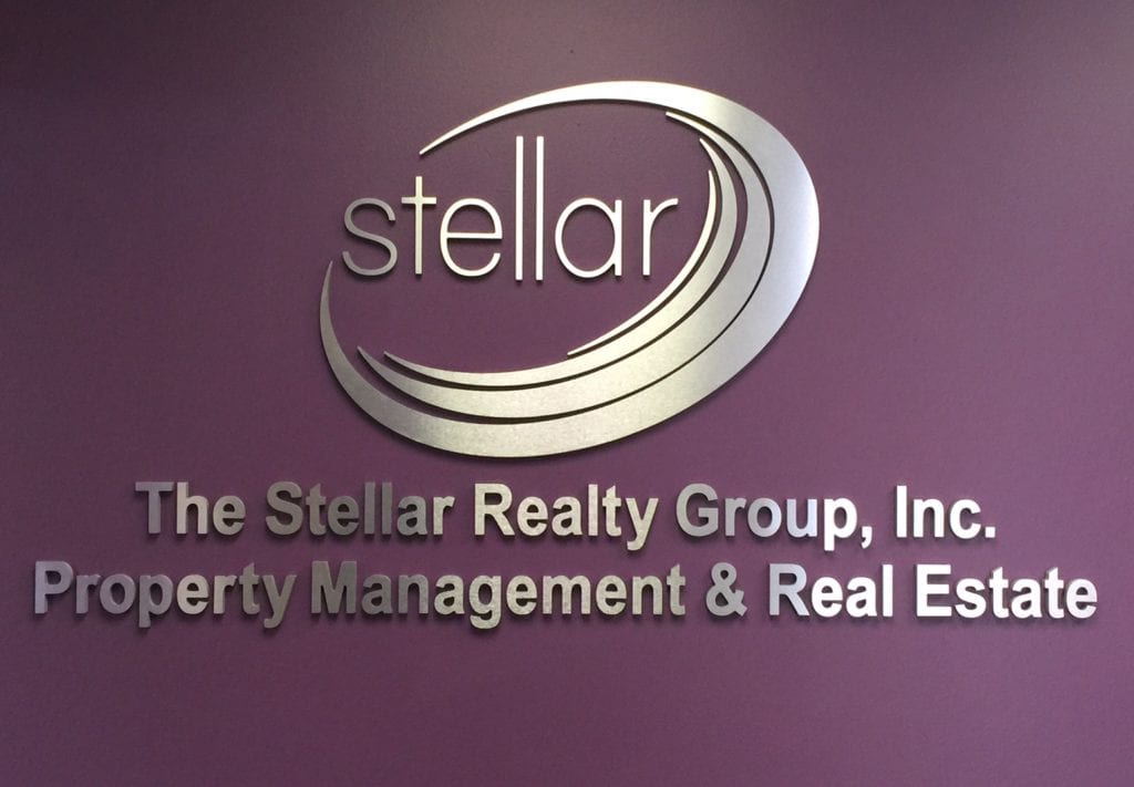 Stellar Interior Custom Fabricated logo wall sign