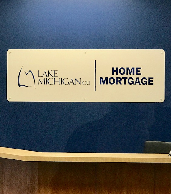 Lake Michigan CU Home Mortgage Interior Wall sign