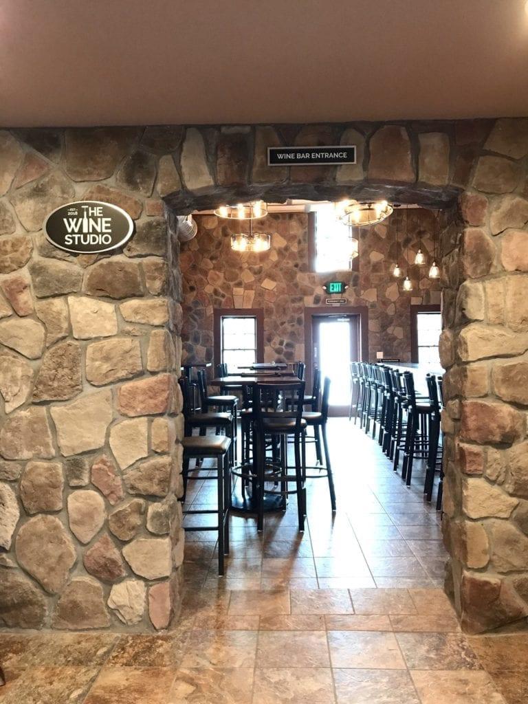 """The Wine Studio- """"Wine Bar Entrance"""" Sign Aluminum Panel Over Doorway"""