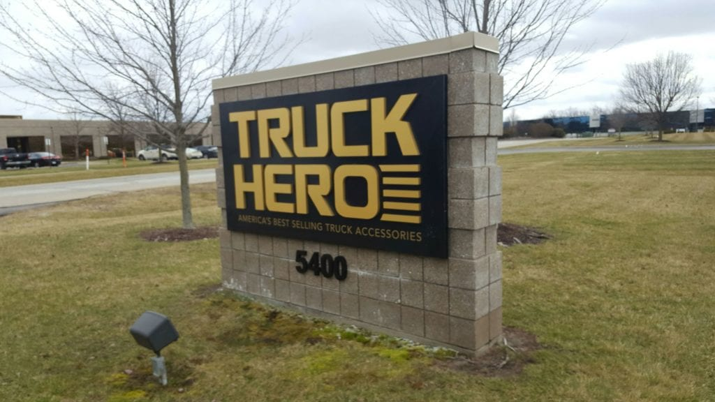 Truck Hero Monument Sign
