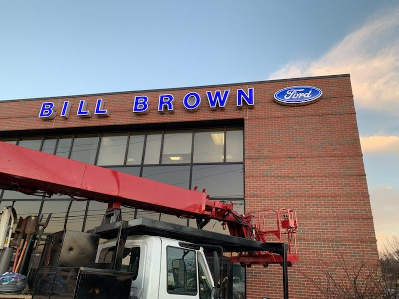 Ford, Bill Brown Channel Letters with logo box