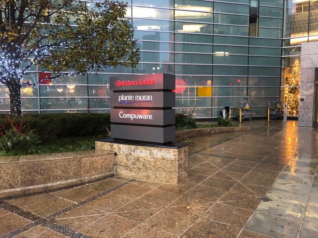 Campus Martius Multi-Tenant Monument featuring Quicken Loans, Plante Moran, Compuware