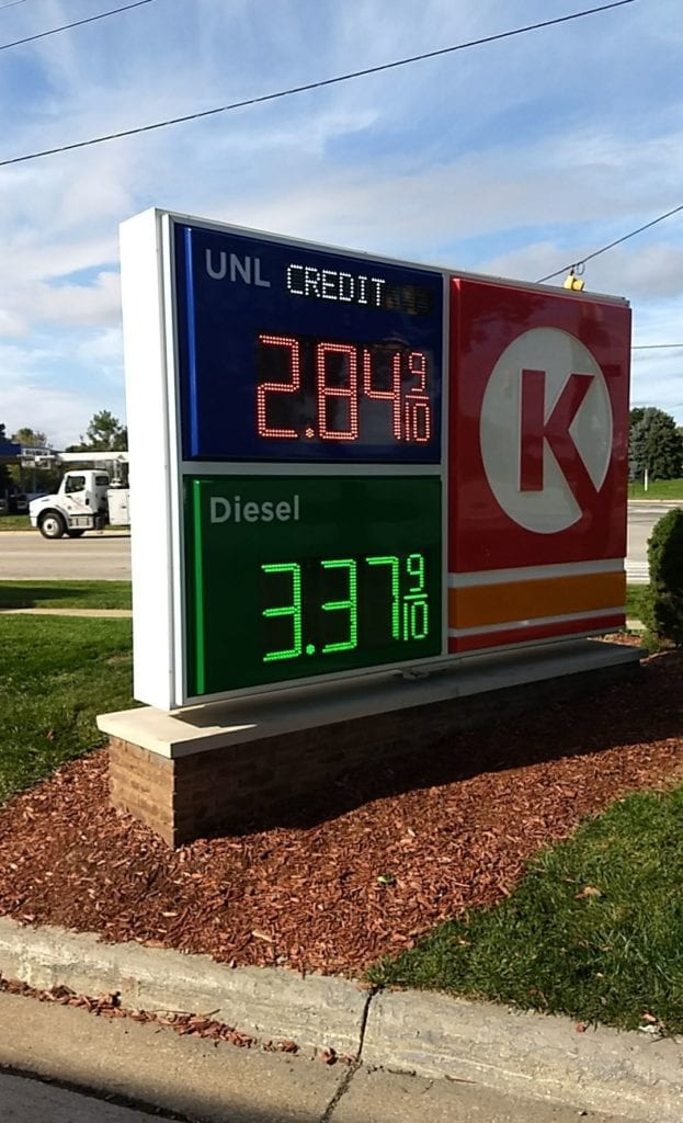 Circle K Gas Price Changer LED Sign