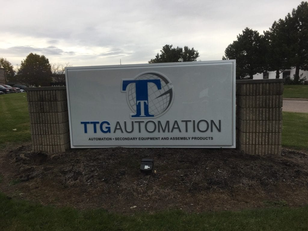 TTG Automation New Face Installed to older brick monument