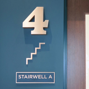 Plaza Signage and Panel Replacements Interior Office Suite Signs