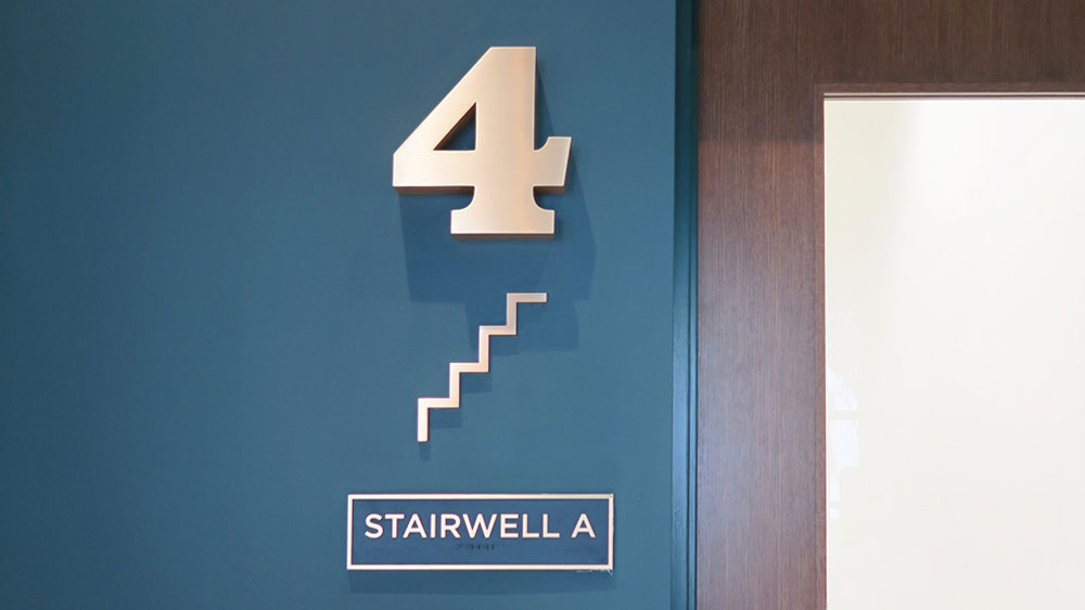 "Stairwell Custom Ada Sign ""4"" ""Stairwell A"""