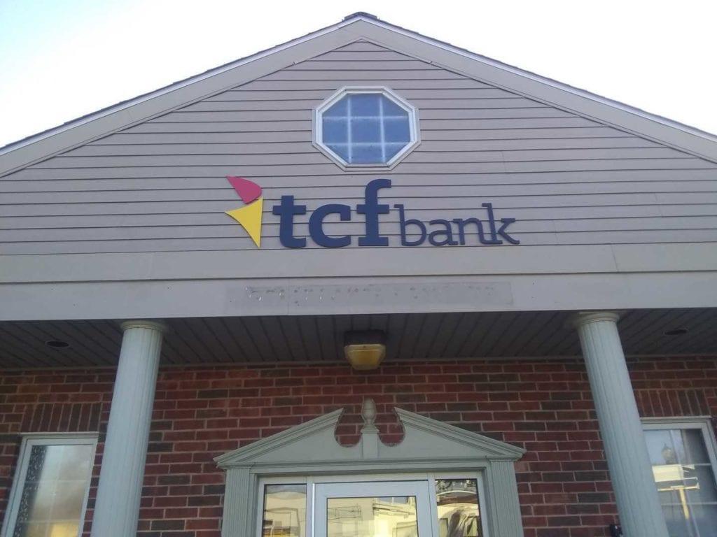 TCF Bank Flat Cut Letters