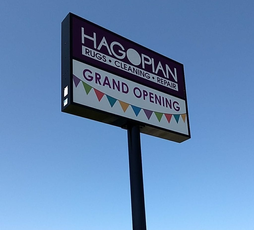 Hagoplan Rugs and Cleaning Pylon Sign