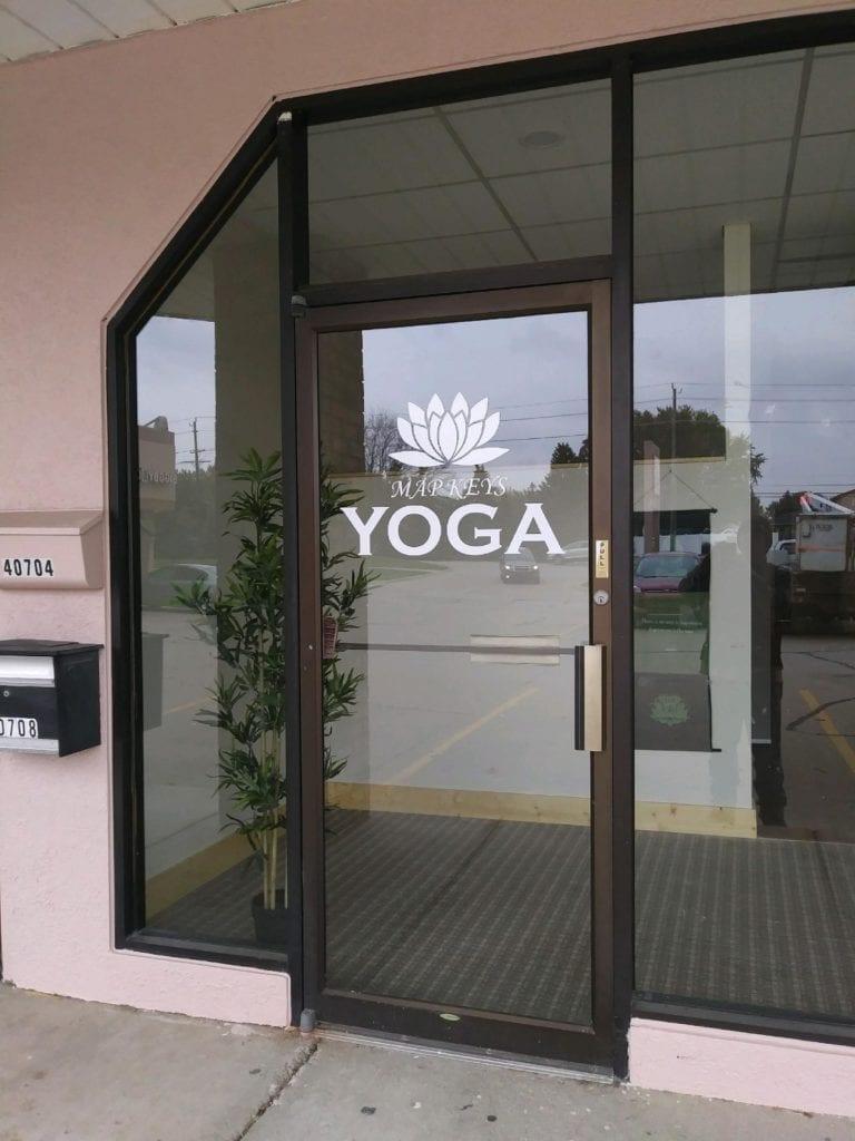 Map Keys Yoga Door Vinyl