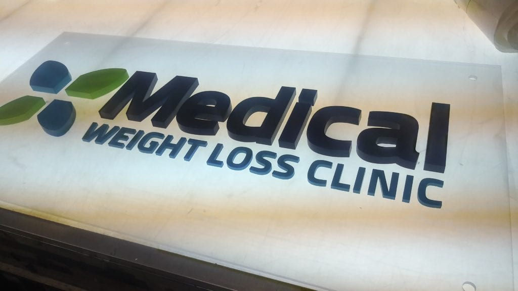 Medical Weight Loss Clinic Dimensional Sign