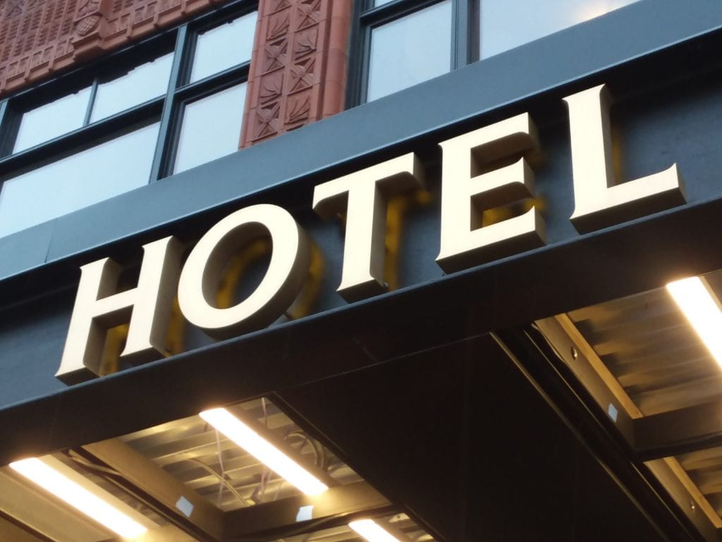 Shinola Hotel Dimensional Fabricated Letters