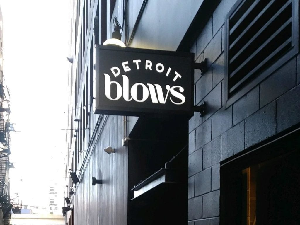 Detroit Blows Blade Sign
