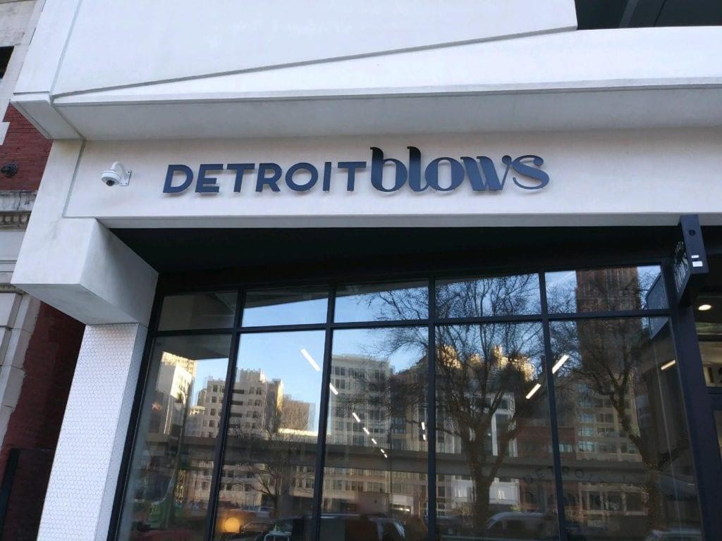 Detroit Blows Dimensonal Letters logo Standoff Store Sign