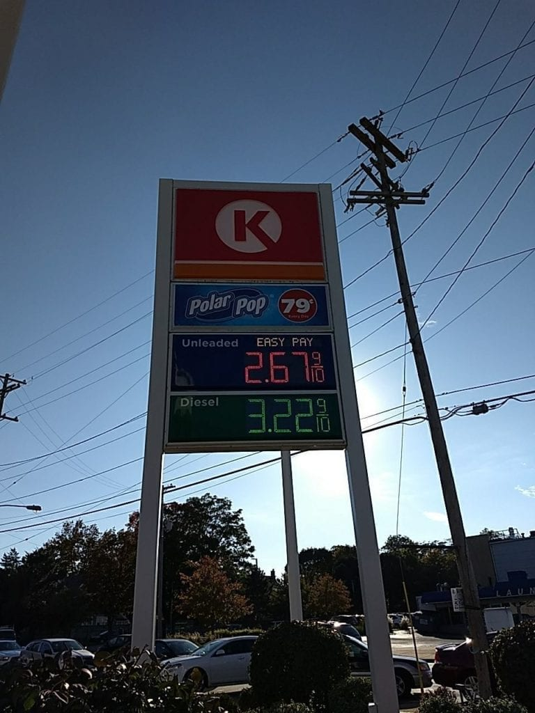 Circle K Gas Station Pylon Sign with LED gas Price Changer