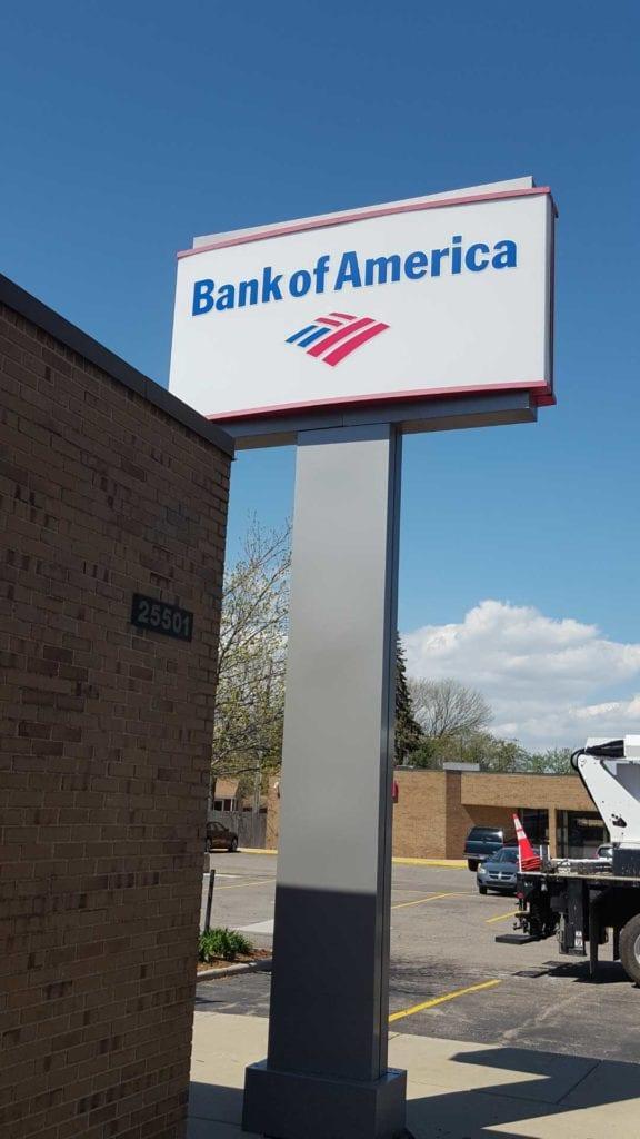Bank of America Pylon Sign