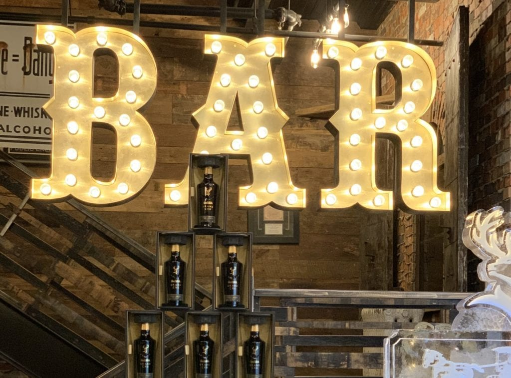 Bar Open Faced Sign light bulbs Retro western channel letters interior