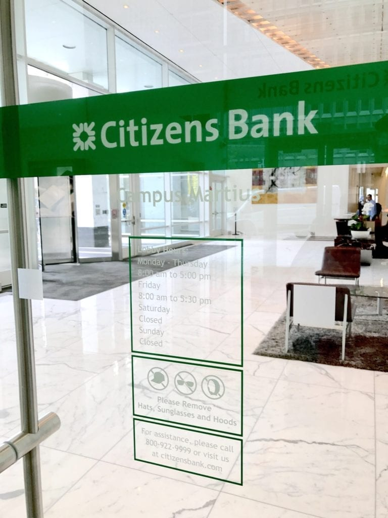 CITIZENS BANK VINYL DOORS
