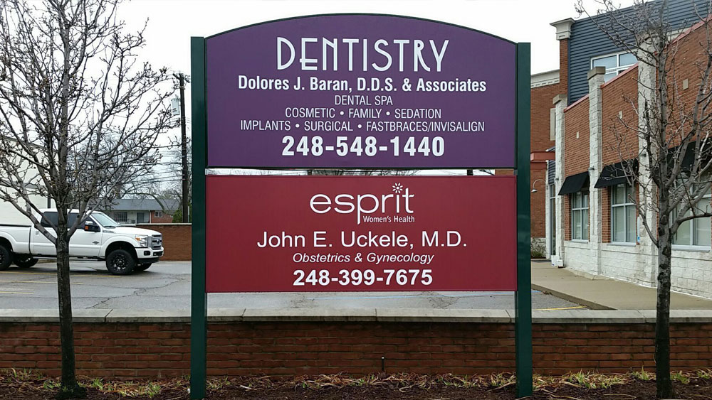 "Dentistry Post and Panel Multi Tenant Panels ""esprit"" ""Dentistry"" ""esprit"" custom shaped"