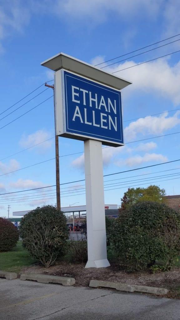 Ethan Allen  Pylon sign face pole cover
