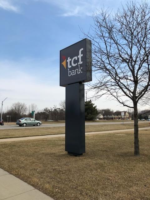 TCF Bank Pylon Sign