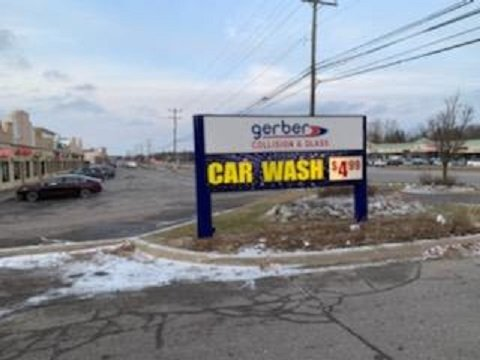 Car Wash- Gerber EMC LED Digital Post Sign