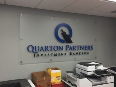 Quarton Partners Interior Standoff Logo Sign