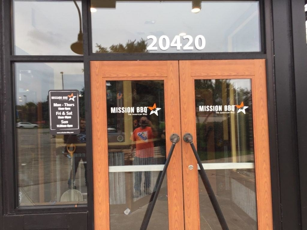 Mission BBQ Door Graphics