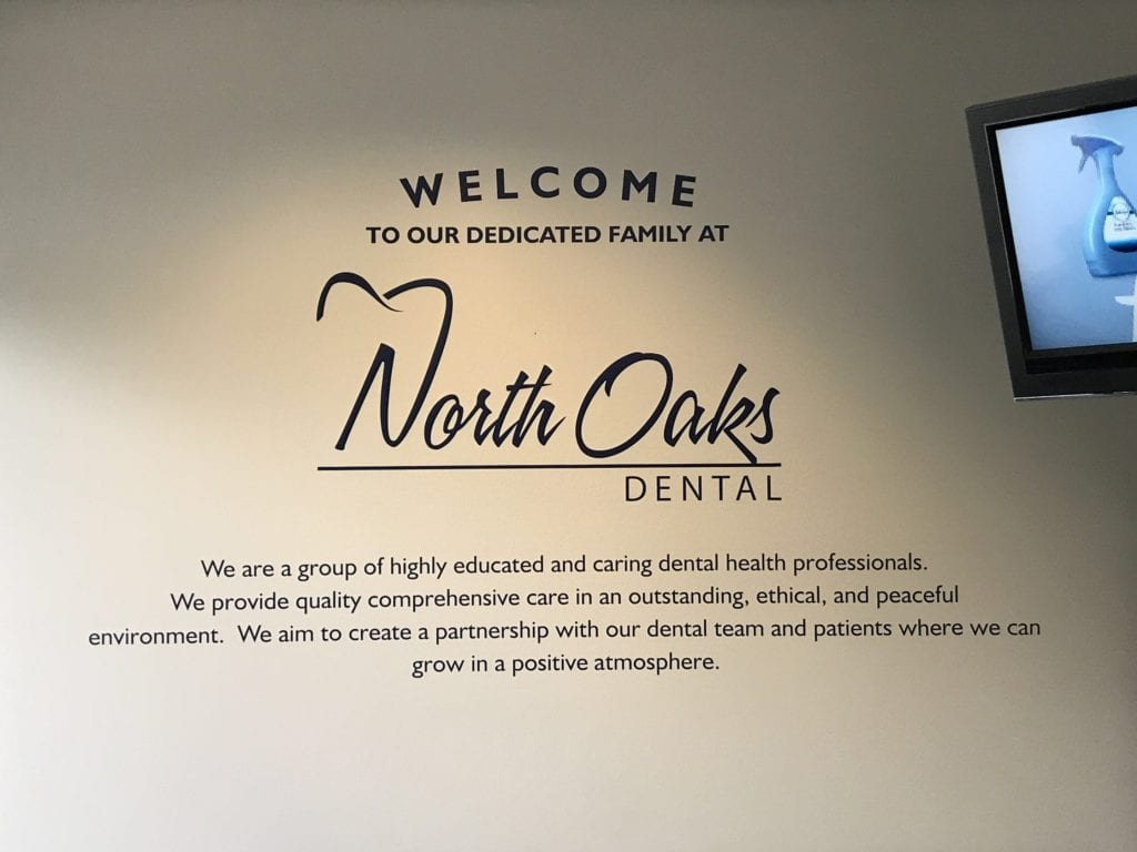 North Oaks Dental Wall graphics